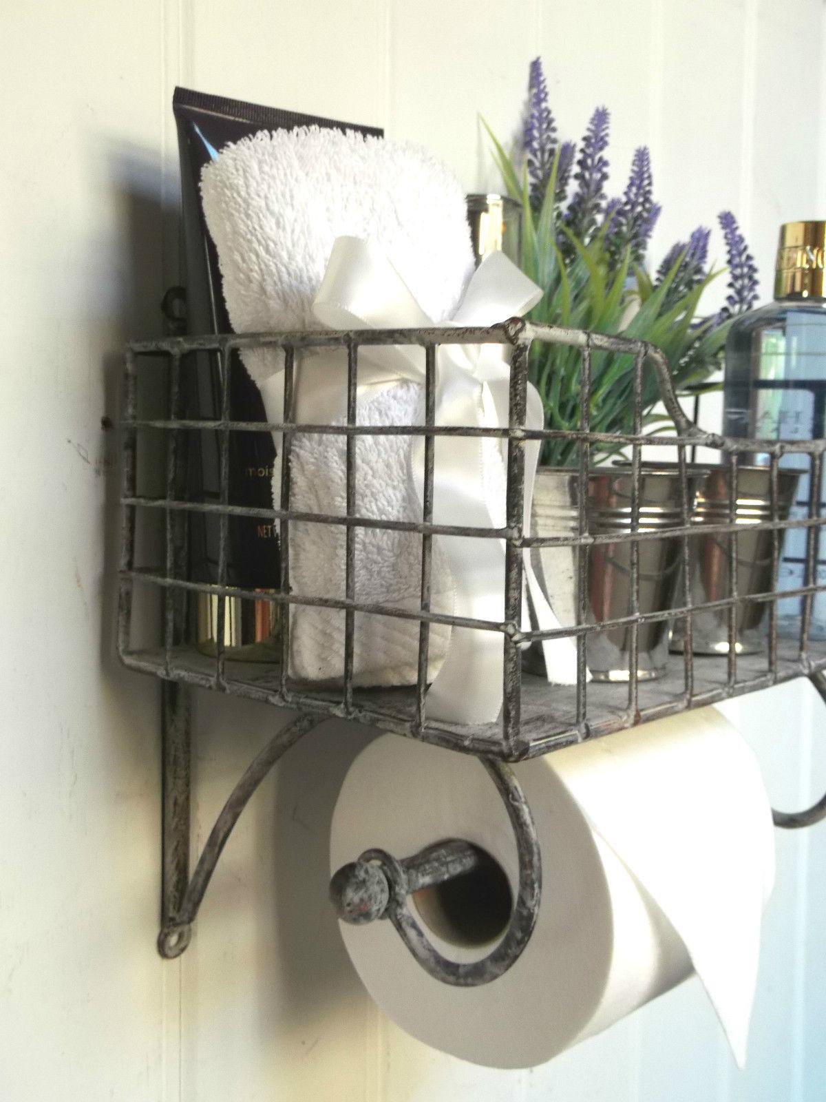 Shabby Chic Vintage Basket Toilet Roll Holder Amazing