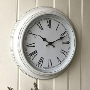 Shabby Chic Large French Grey Wall Clock Amazing Grace