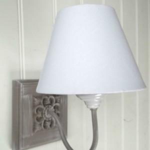 Lighting amazing grace interiors french shabby chic washed grey vintage style wall light aloadofball Images