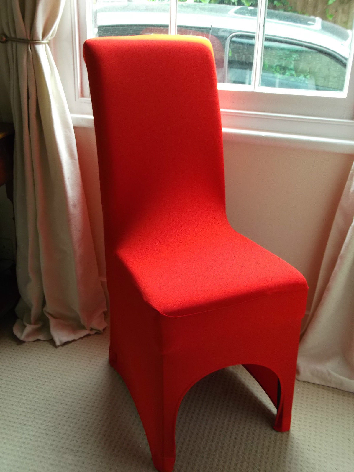 Red dining room chair covers 28 images beautiful red for Red dining room chairs