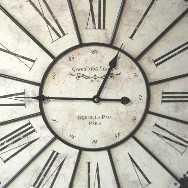 Extra Large French Shabby Chic Wall Clock Amazing Grace Interiors