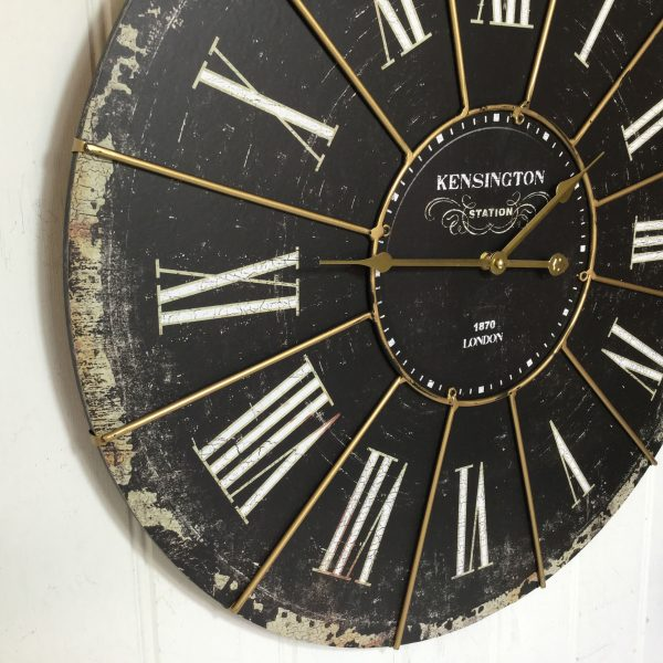 Extra Large Shabby Chic Kensington Station Wall Clock ...
