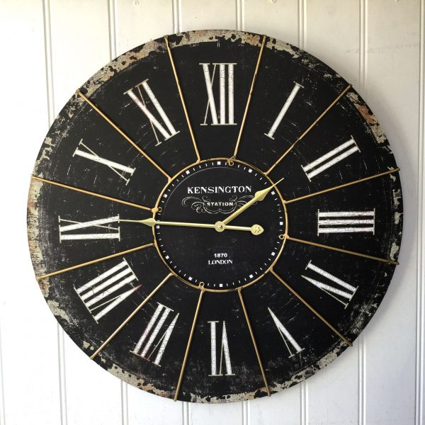 Extra Large Shabby Chic Kensington Station Wall Clock Antique Vintage Style