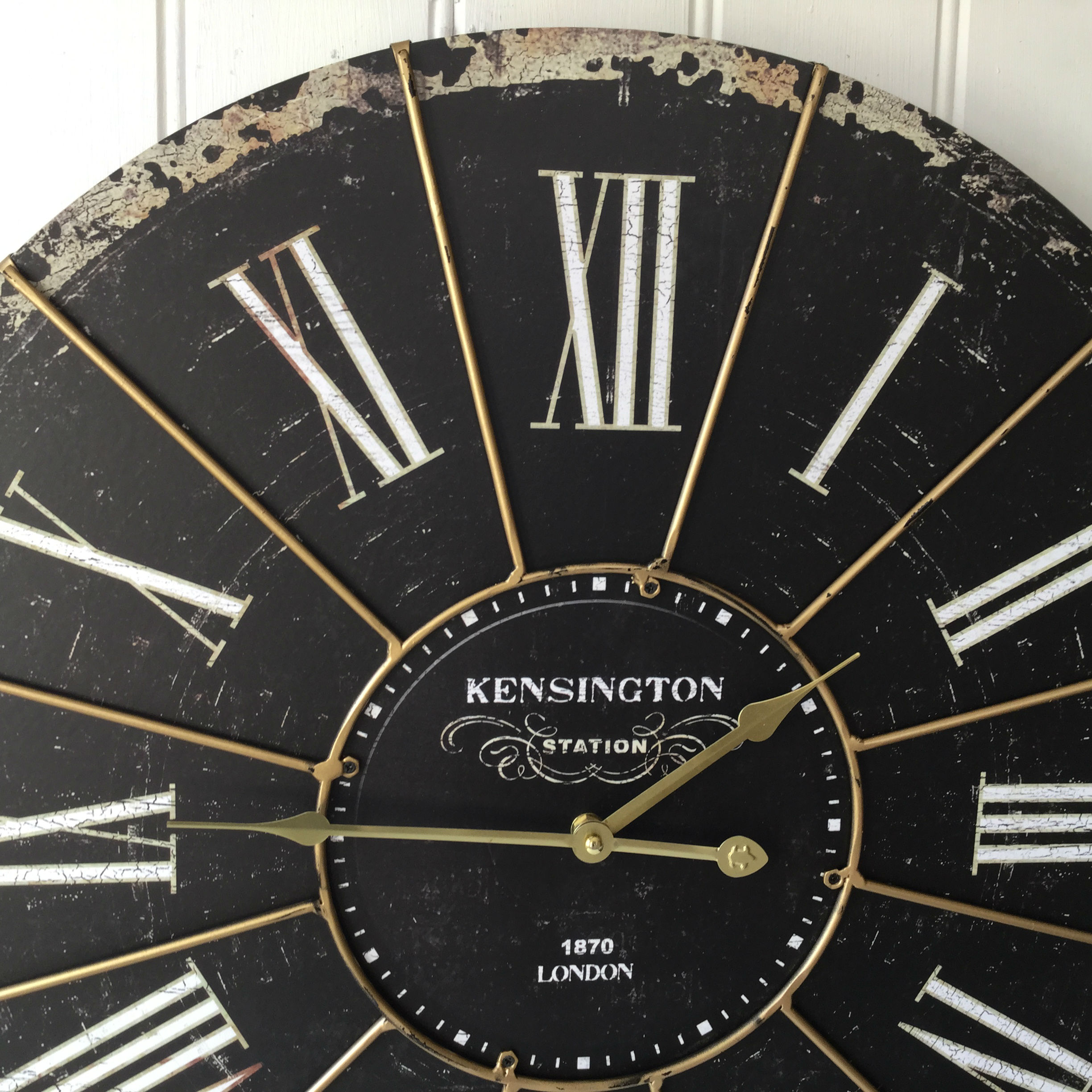 Extra Large Shabby Chic Kensington Station Wall Clock