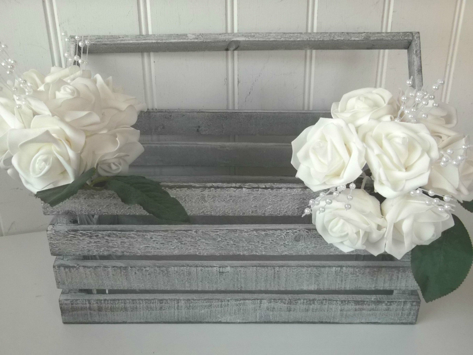 3 shabby chic rustic wood storage crates boxes wedding crate card post display amazing grace. Black Bedroom Furniture Sets. Home Design Ideas