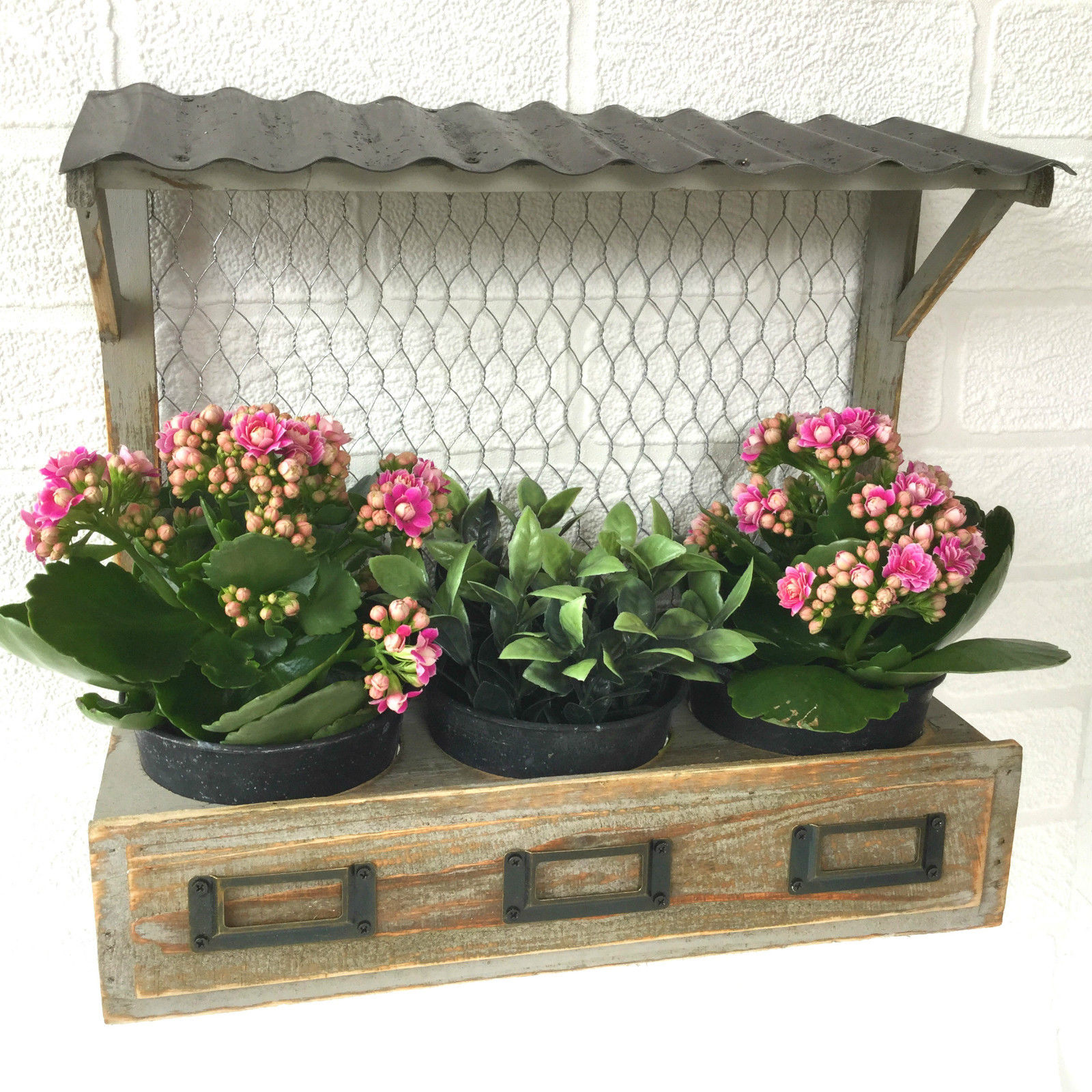 Vintage Syle Shabby Chic Window Box Wall Planter Pots