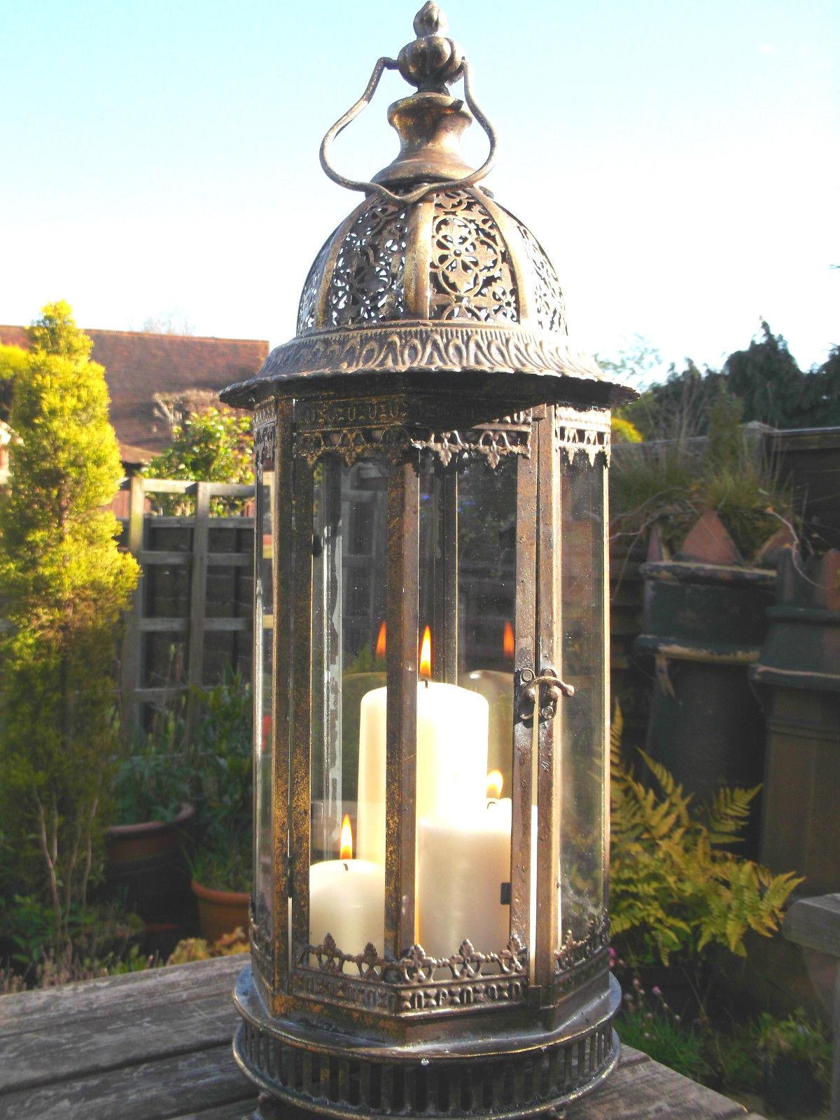 Antique Vintage Style Large 60cm Moroccan Garden Lantern