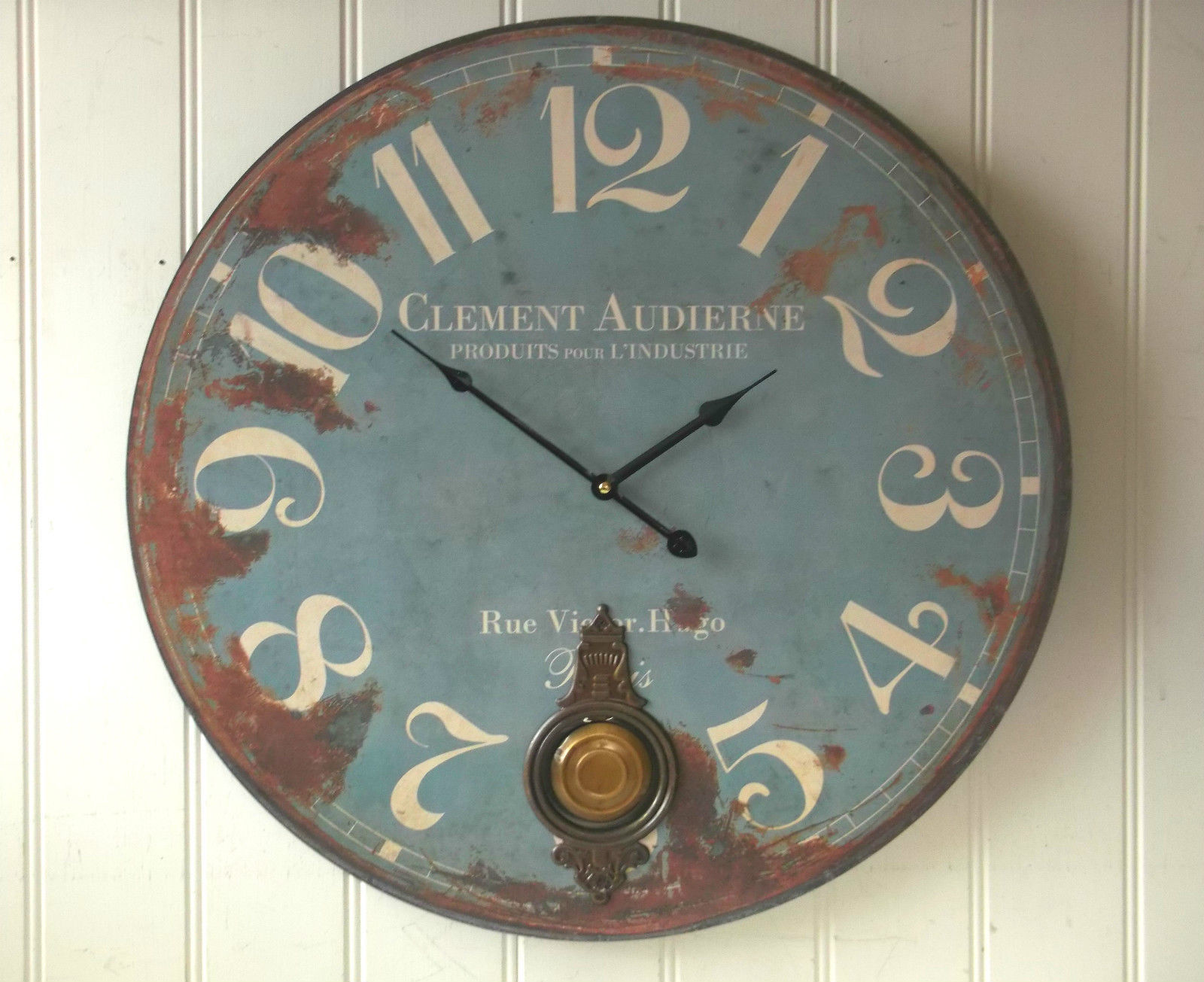 Extra Large French Shabby Chic Wall Clock 60cm Antique