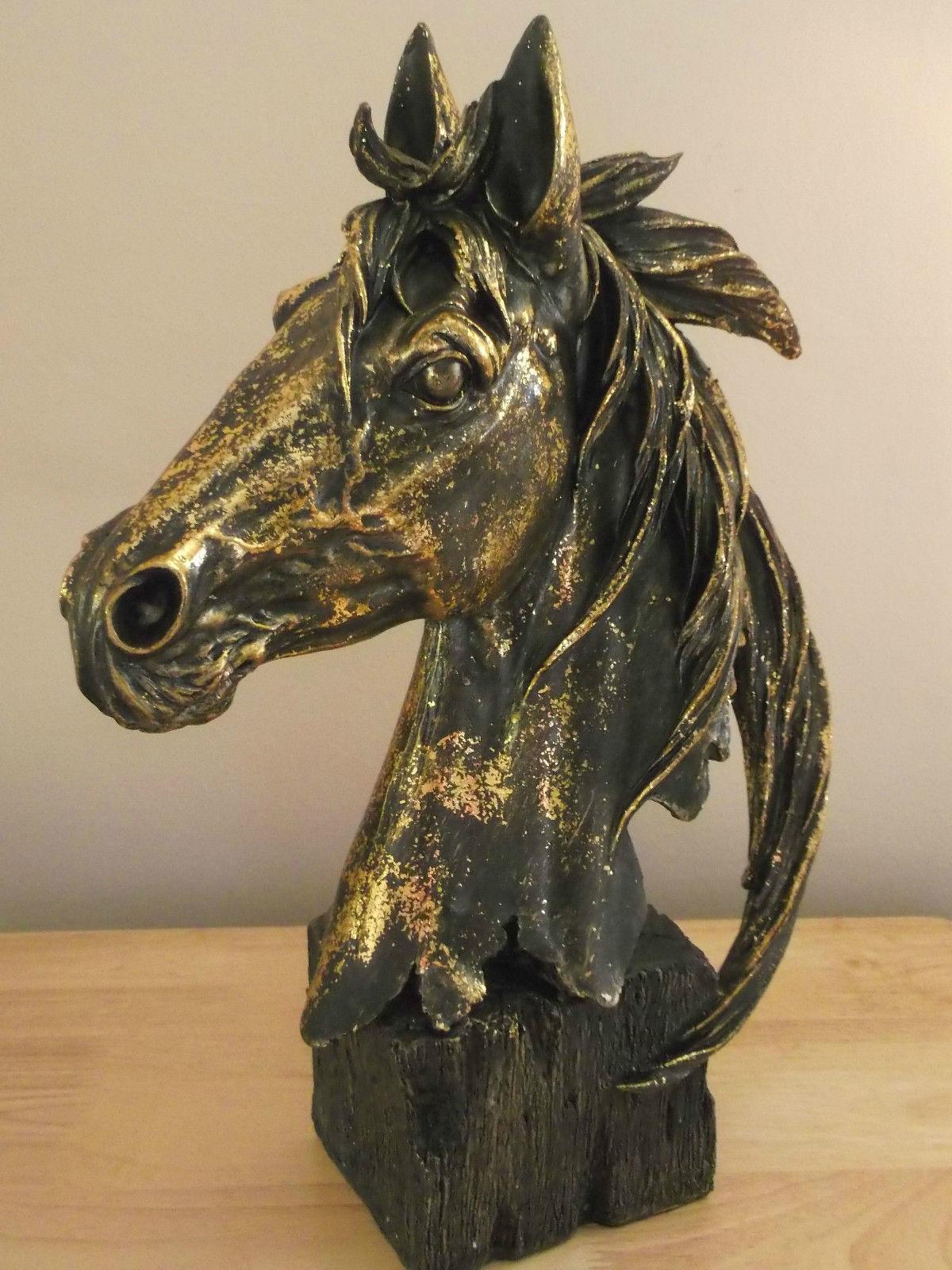 New Large Horse Head Bust Statue Ornament Sculpture