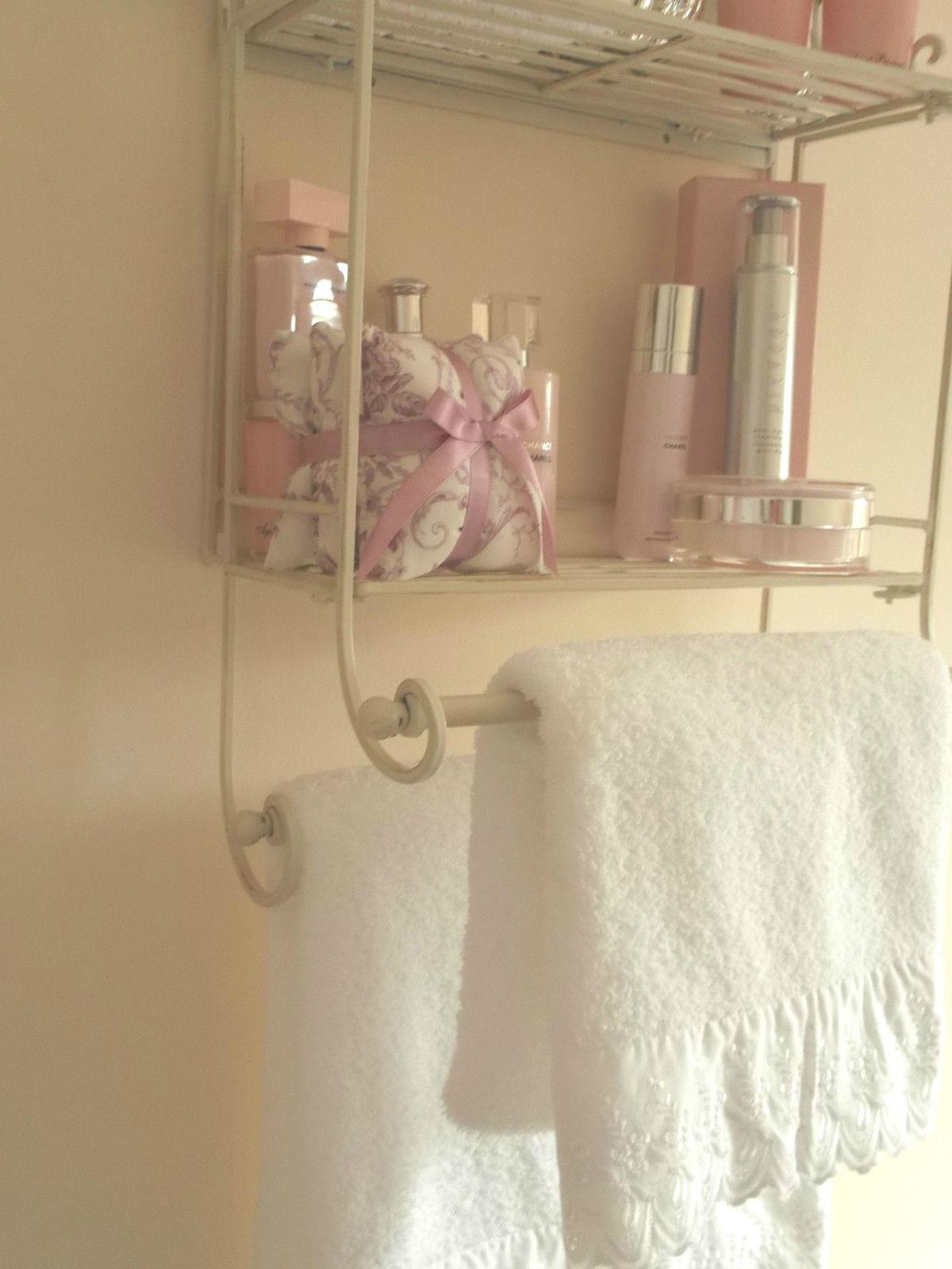Shabby Chic Metal Wall Shelf Amp Towel Rail Amazing Grace Interiors