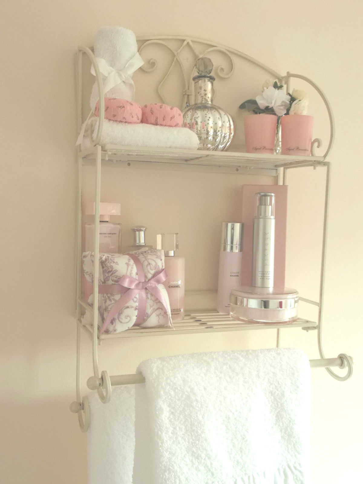 Shabby Chic Metal Wall Shelf Amp Towel Rail Amazing Grace