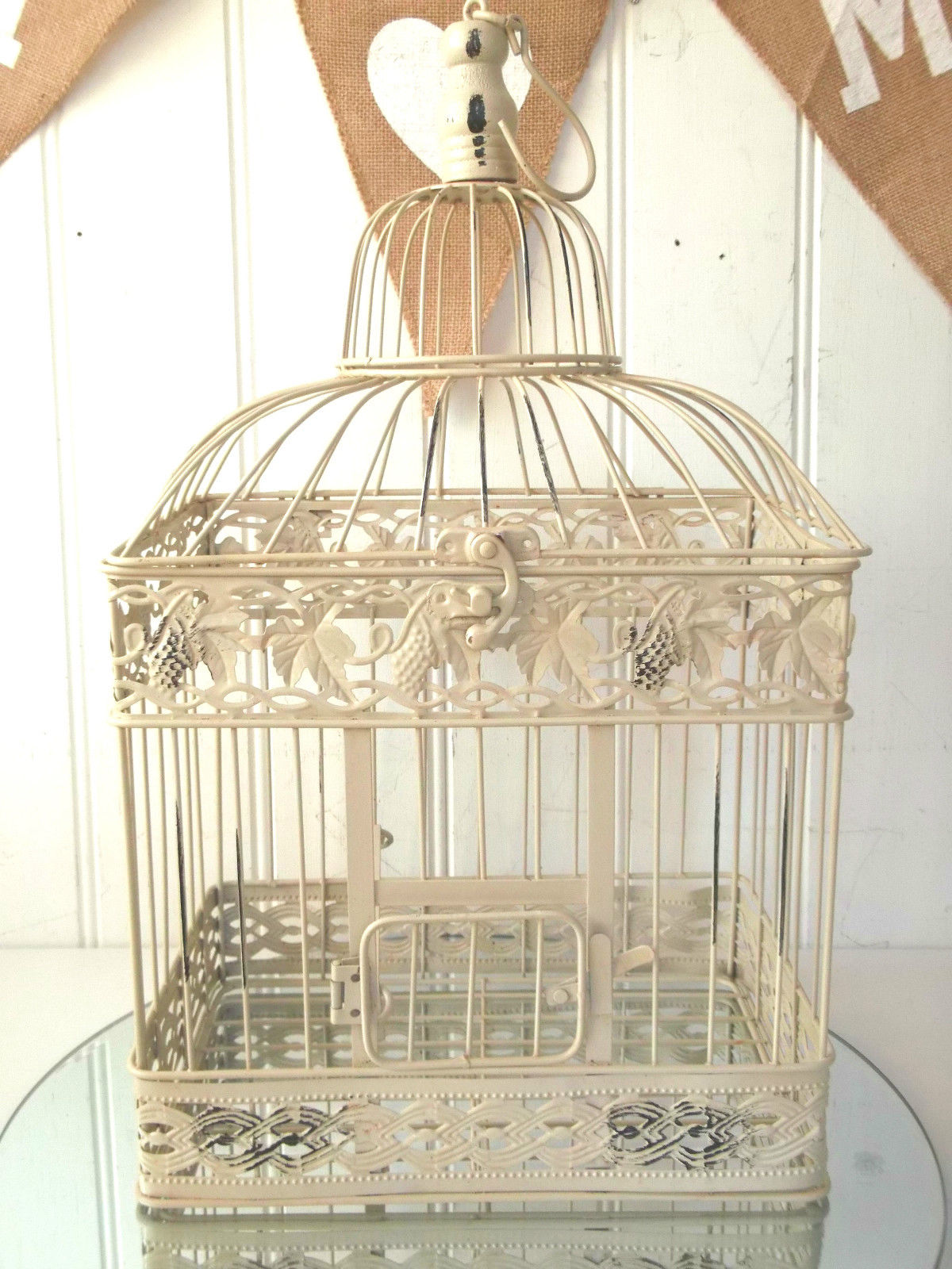 large shabby chic square decorative birdcage amazing grace interiors. Black Bedroom Furniture Sets. Home Design Ideas
