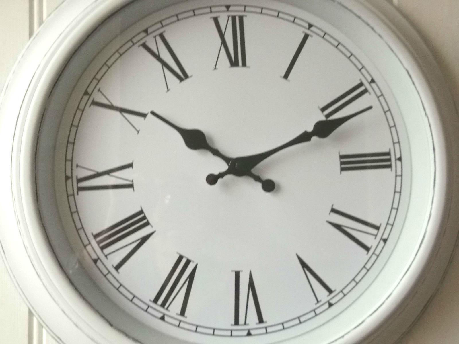 Shabby Chic Large White Wall Clock Amazing Grace Interiors