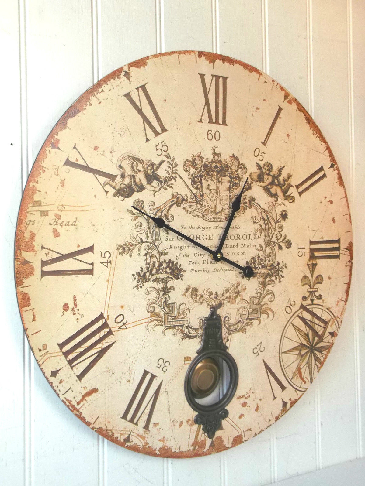 Extra Large Pendulum Wall Clock Amazing Grace Interiors