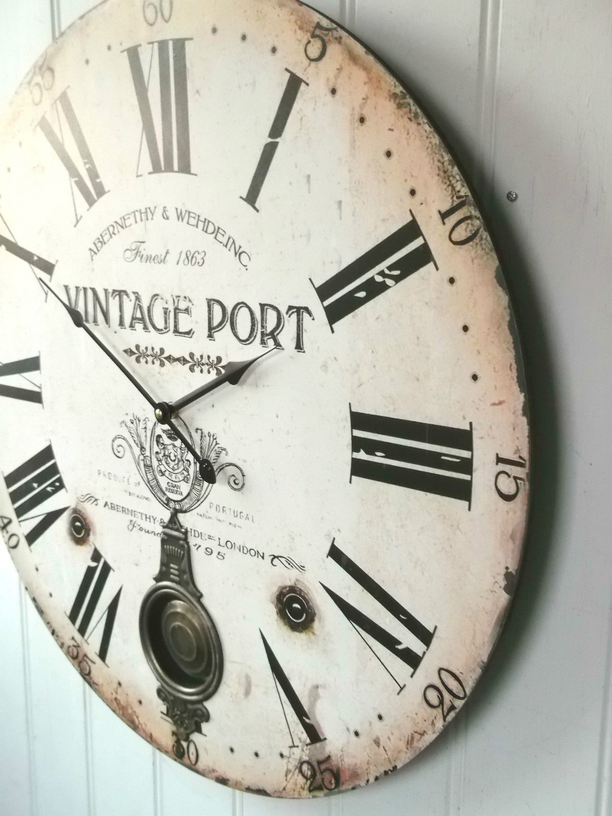 Antique Vintage Style Extra Large Shabby Chic Wall Clock