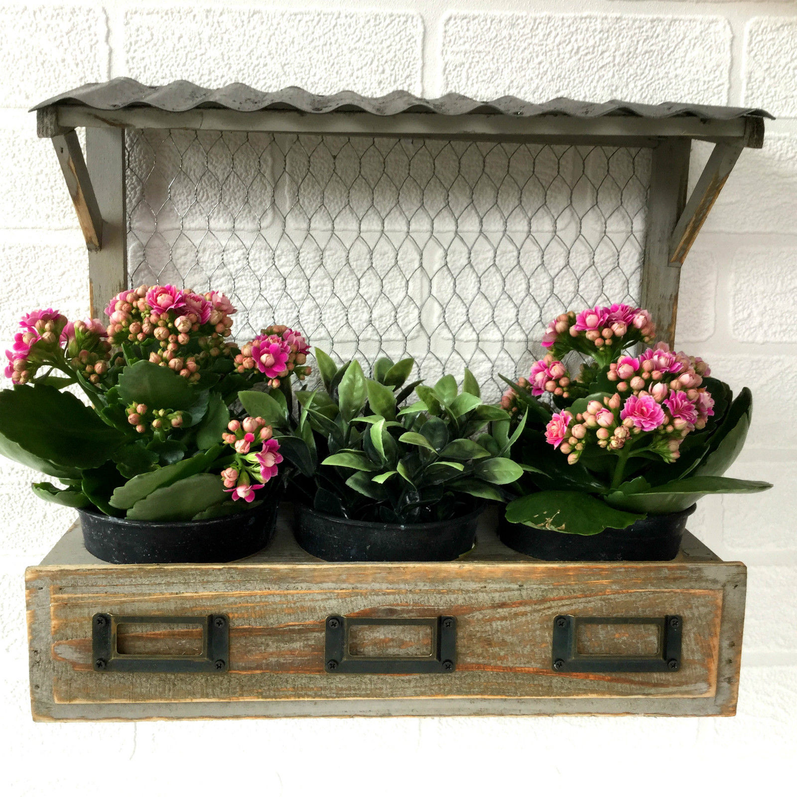 vintage syle shabby chic window box wall planter pots. Black Bedroom Furniture Sets. Home Design Ideas