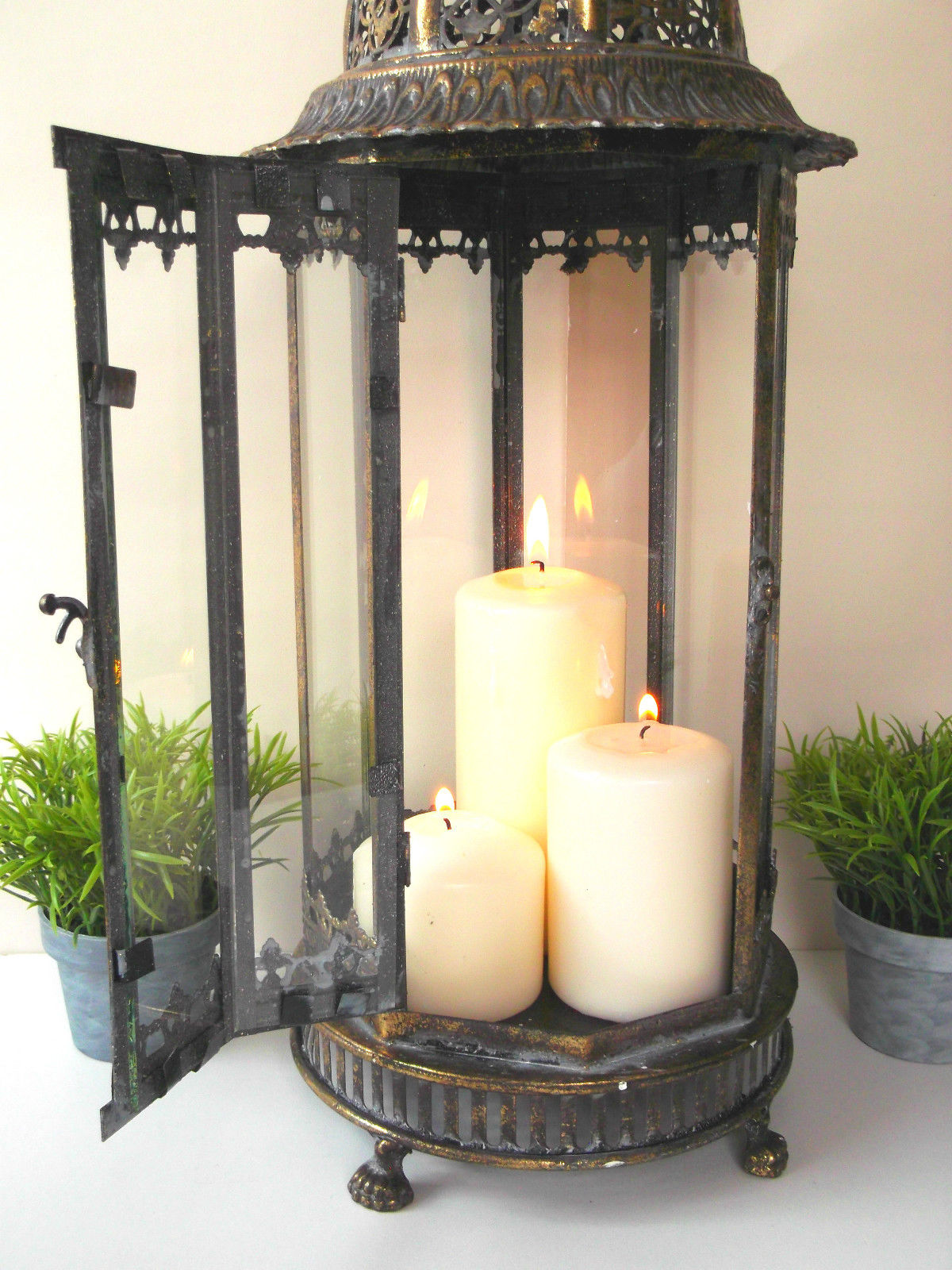 Large Vintage Style 60cm Moroccan Lantern Candle Holder
