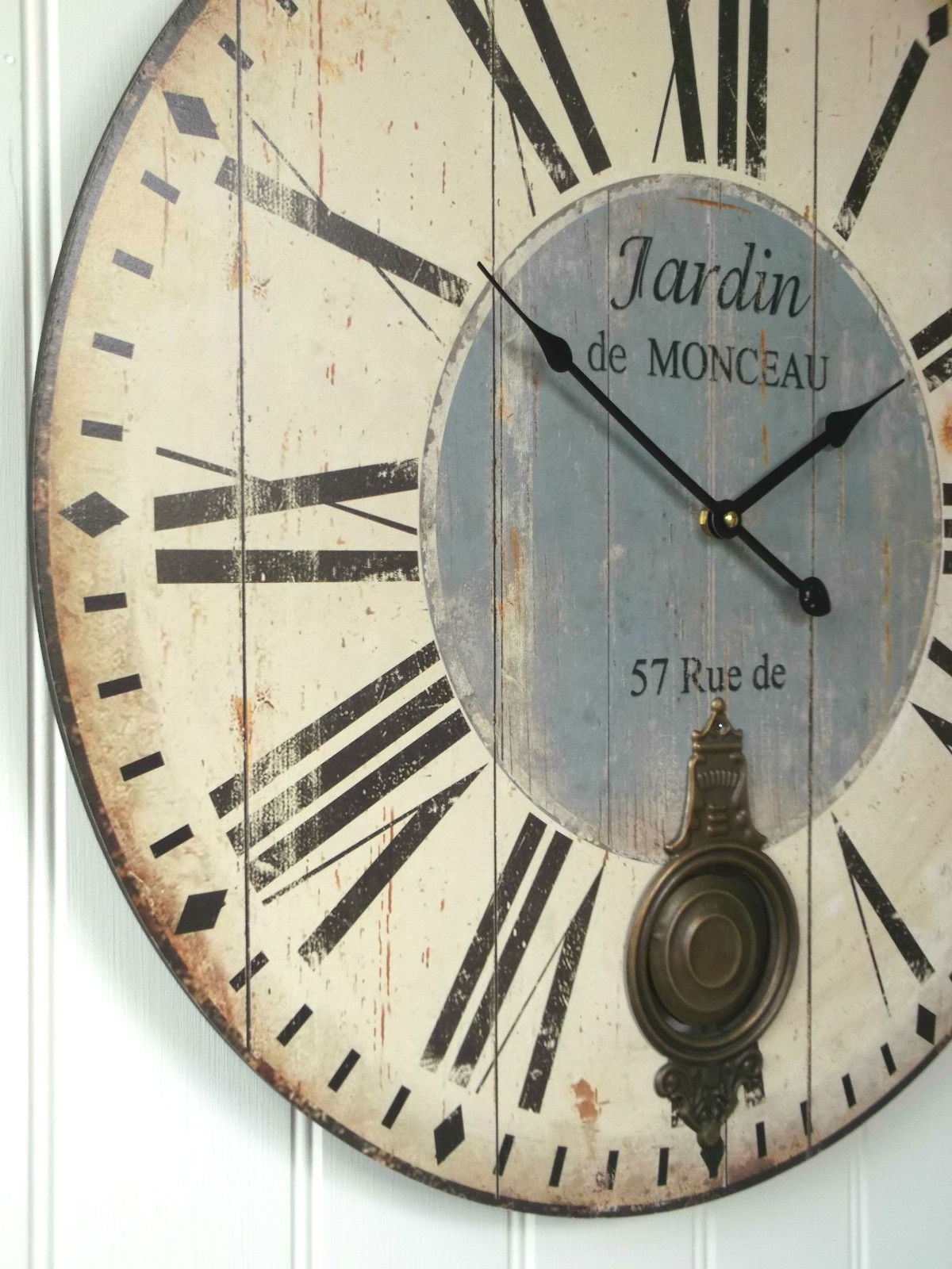 extra large 60cm antique french vintage style wall clock. Black Bedroom Furniture Sets. Home Design Ideas