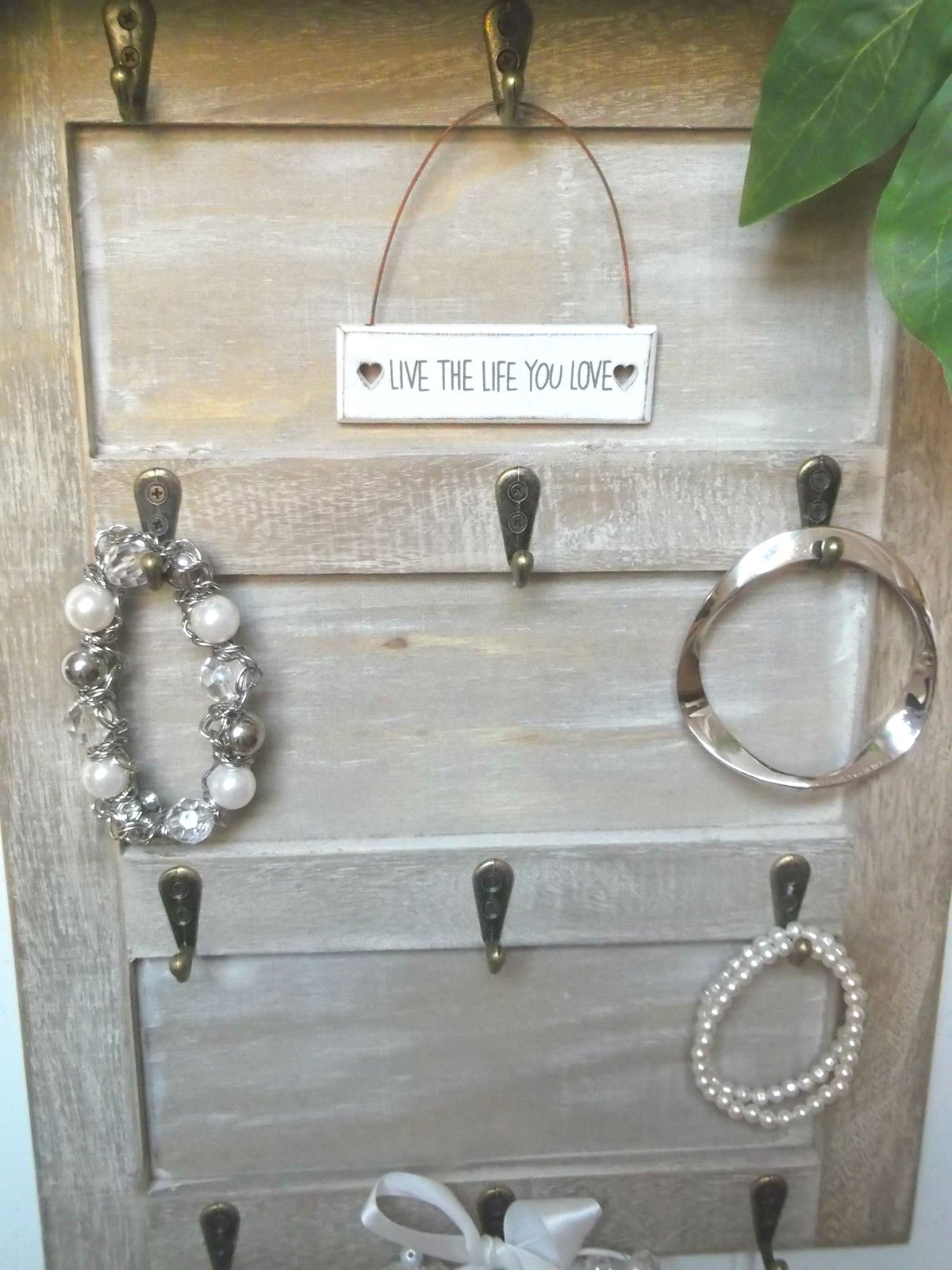 Shabby Chic Wall Mounted Key Hooks Holder Rack Jewellery