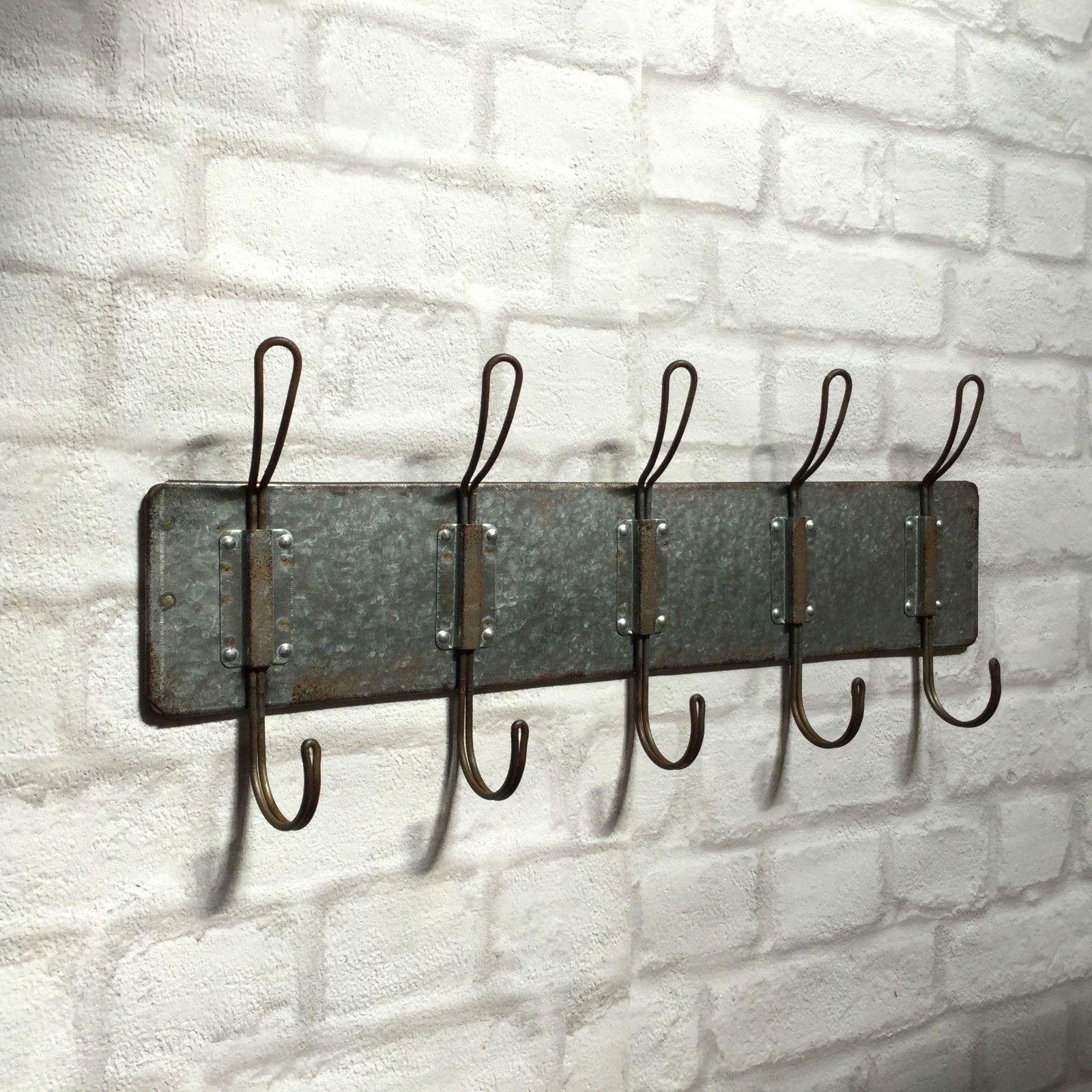 vintage industrial style wall mounted coat hooks rack pegs towel rail urban chic amazing grace. Black Bedroom Furniture Sets. Home Design Ideas