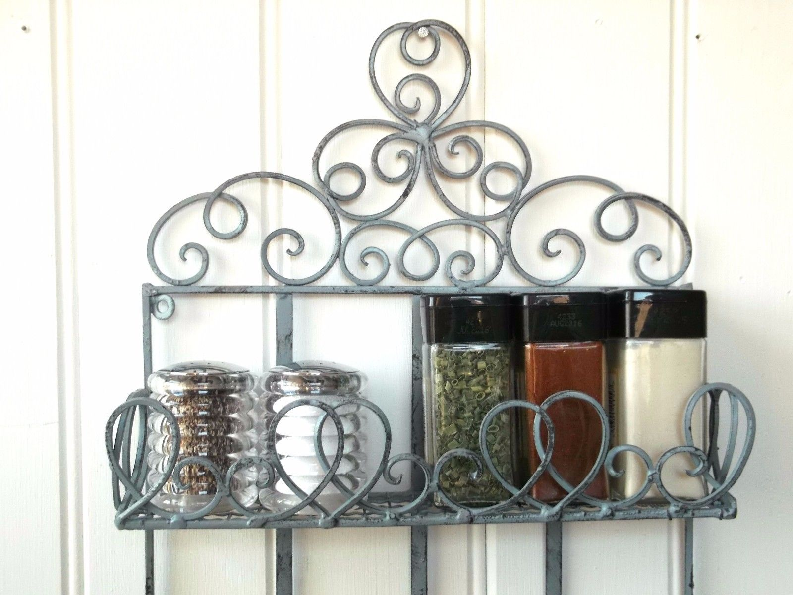 Vintage Style Metal Wall Shelf Unit Storage Unit Kitchen